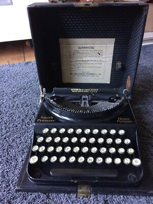 Smith Premier Home Portable Typewriter
