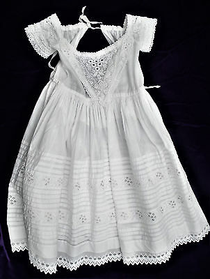 Antique Ayrshire Embroidered Baby Dress