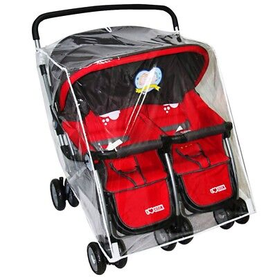 Baby Stroller Rain Cover Infant Twin Prams Carriage Transparent Windproof Shield