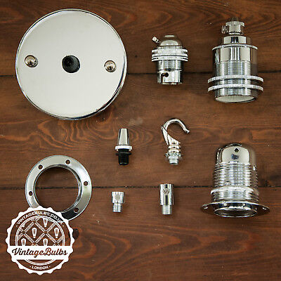 Vintage Chrome collection antique retro style light fittings accessories