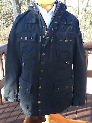 BRAND NEW - Barbour Dept. B Shordace Waxed Cotton Navy Jacket -S- MSRP $999