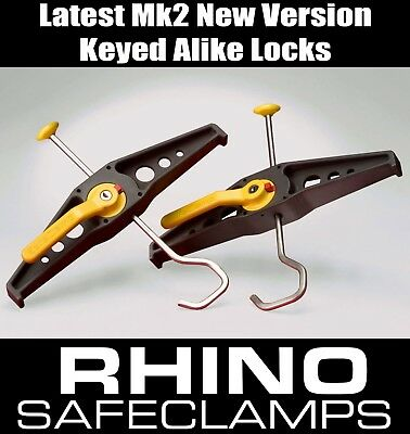 RHINO SAFECLAMPS -  SAFE CLAMP VAN LADDER CLAMPS - Latest Wide Ladder Model (EU)
