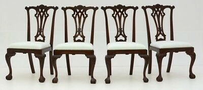 set of 4 solid mahogany period dining chairs