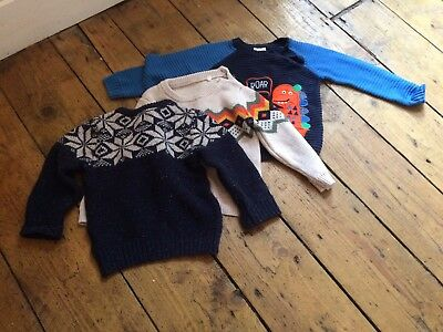 Boys Winter Jumpers Size 9-12 Months