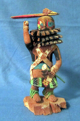 KACHINA Carved wood. No feathers etc, just wood. Looks old.