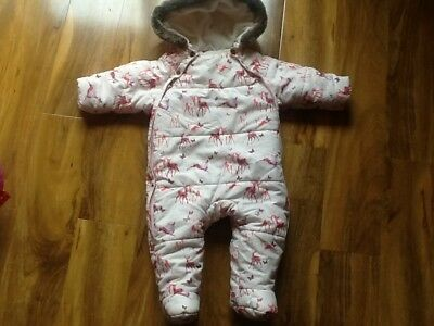 Ted Baker girls snowsuit age 6-9 months