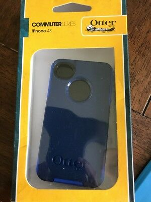 Apple iPhone 4/4S Otterbox Commuter BLUE Case Cover W/screen PrOtector
