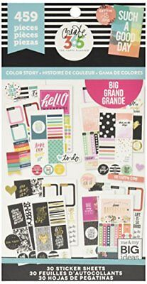 Me & My Big Ideas Big Colour Story Stickers, Multi-Colour