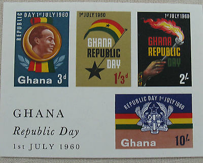 Stamps of Ghana. ms. Ghana Republic Day. 1st. July 1960. mint imperforate.Mint
