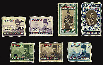 PALESTINE EGYPTIAN OCCUPATION 1948 2 COMPLETE SET (Yv. 4-7, 17-19) MNH