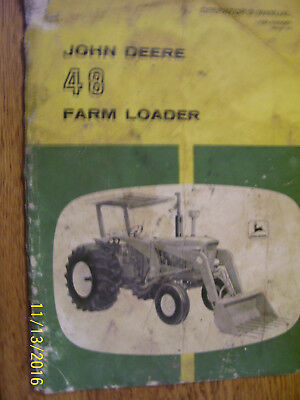 Vintage John Deere Operators Manual - # 48 Farm Loader