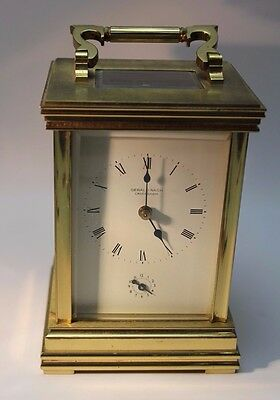 Antique Gerald Nash of Caversham Brass Cased Repeating Alarm Carriage Clock