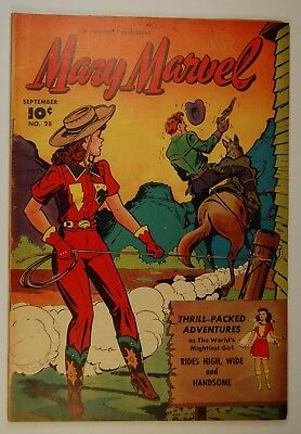 """Mary Marvel #28 (Sep 1948, Fawcett) """"Rides High, Wide and Handsome!"""""""