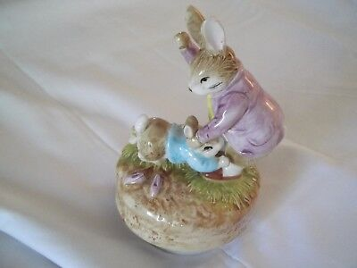 Vintage Beatrix Potter Music Box- Mr. Benjamin & Peter Rabbit