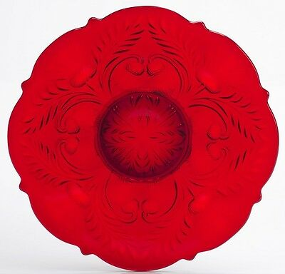 Platter - Inverted Thistle - Mosser USA - Red Glass