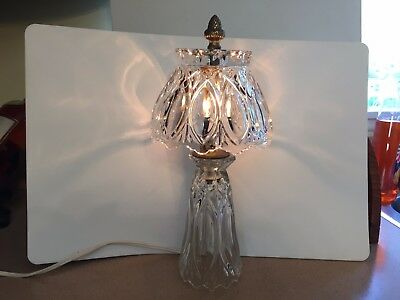Princess House Romance Collection Bedside Table Lamp Lead Crystal 24%