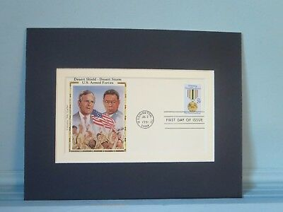 Honoring Desert Storm Veterans, George Bush & Colin Powell & First Day Cover