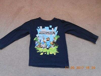 Boy's Minecraft Top, Age 5 To 6 Years