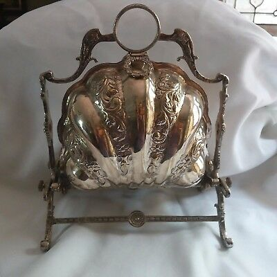 Clam Sea Shell Silverplated English Bun - Biscuit Warmer Ornate