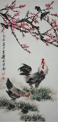 Magnificent Large Chinese Painting Signed Master Wang Xuetao Rare Ub5885