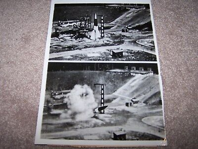 Post WWII photo of V2 rocket failure on launch pad (German newsreel)