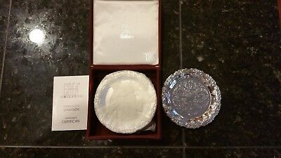 Vintage Silver Plated Coasters By Crea Milano Set Plus Box