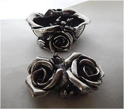 Robert Glover Harmony Kingdom Garden Party Sterling Silver Double Rose Box