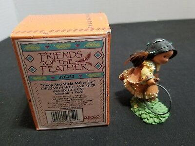 Enesco Friends of The Feather 1997 Hoops And Sticks Make Six 326453