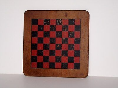 Beautiful Vintage Antique Chess or Checker Board