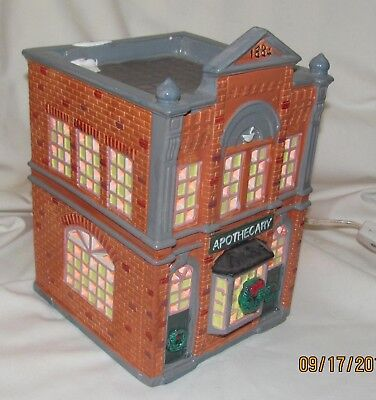 Dept 56 Snow Village Apothecary Store   Perfect Condition  Free Shipping
