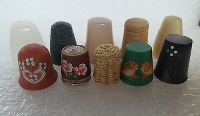 10 beautiful vintage thimbles- A very original and highly collectible collection