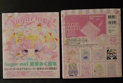 "JAPAN Miku Natsume Art Book ""Sugar mel"" W/Original Bag"