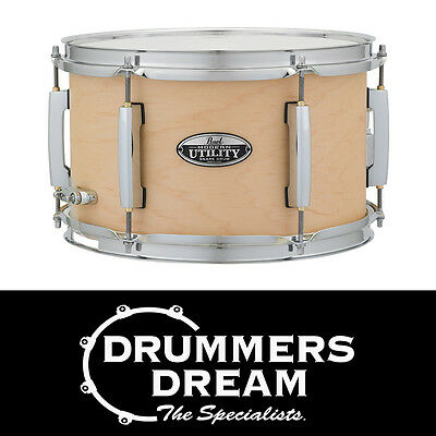 """Pearl Modern Utility 12x7"""" Snare Drum 6-ply Maple Shell Matte Natural Finish"""