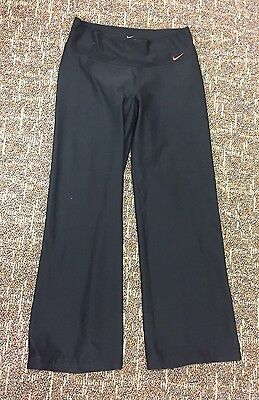 Women's Nike Dri-fit Running Athletic Running Black Yoga Pants   Medium M