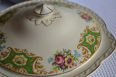 "Royal Falcon Ware - ""melrose"" - Turine/casserole Dish With Lid."