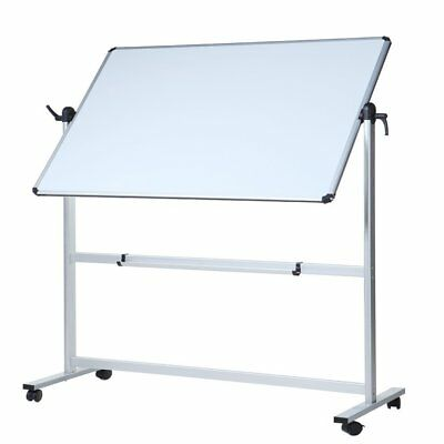 VIZ-PRO Double-Sided Magnetic Mobile Whiteboard Aluminium Frame and Stand