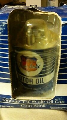 Vintage 1:4 Scale Oil Can Coin Bank Phillips Trop Artic Motor Oil Bank
