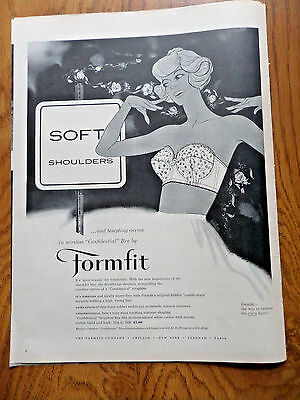 1959 Formfit Bra Girdle Ad   Soft Shoulders