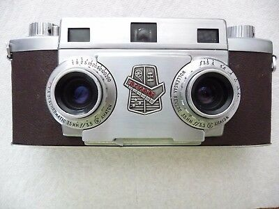 Vintage Revere 33 Stereo Camera Wollensak 35 mm F/3.5