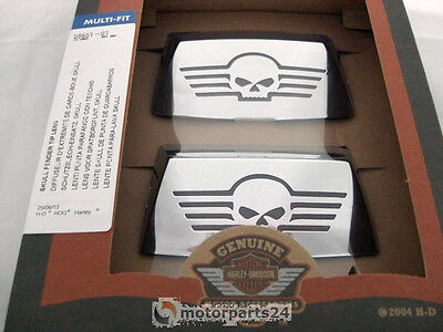 Harley Davidson Skull fenderspitzen Kit with Glass Insert 59651-01