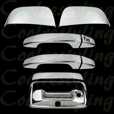 For CHEVY Silverado 2014 15 2016 2017 18 Chrome 4 Door Handle Covers Without PK