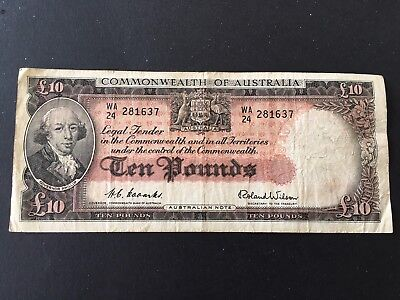 10 pounds Coombs/Wilson 1954 nice and scarce banknote