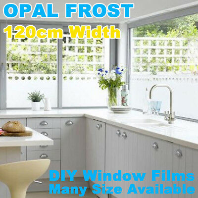 120CM Sand Blast Clear Privacy Frosted Frosting Removable Window Glass Film
