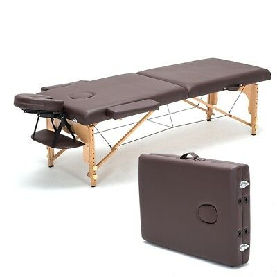 New PU Leather Massage Pad Portable Massage Table Facial Bed Spa Chair Relax