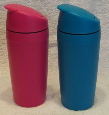 Tupperware Communter Cafe Out Insulated Coffee Mug- Blue or Pink- NEW