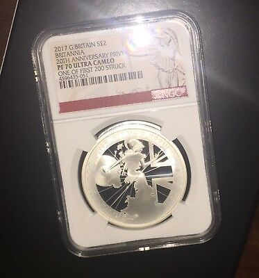 2017 SILVER 1oz PROOF BRITANNIA NGC PF70 PERFECT! ULTRA CAMEO 1st 200 MINTED #35