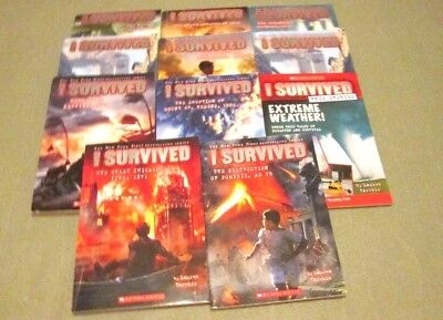 10 I Survived Series Chapter Book Lot Historical Adventure Rl4 Lauren Tarshis
