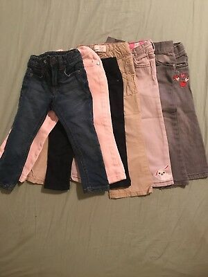 24m / 2t Girls Jeans And Pants Lot - 7 Pairs