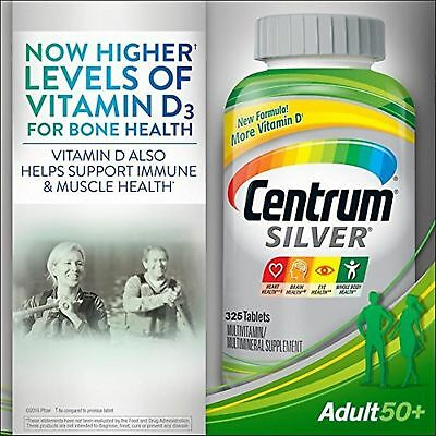 CENTRUM SILVER Multivitamin 325 tablets FOR ADULTS OVER 50 multimineral 50+