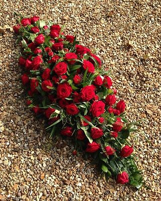 Fresh ALL ROSE COFFIN SPRAY delivery within St Albans and surrounding areas